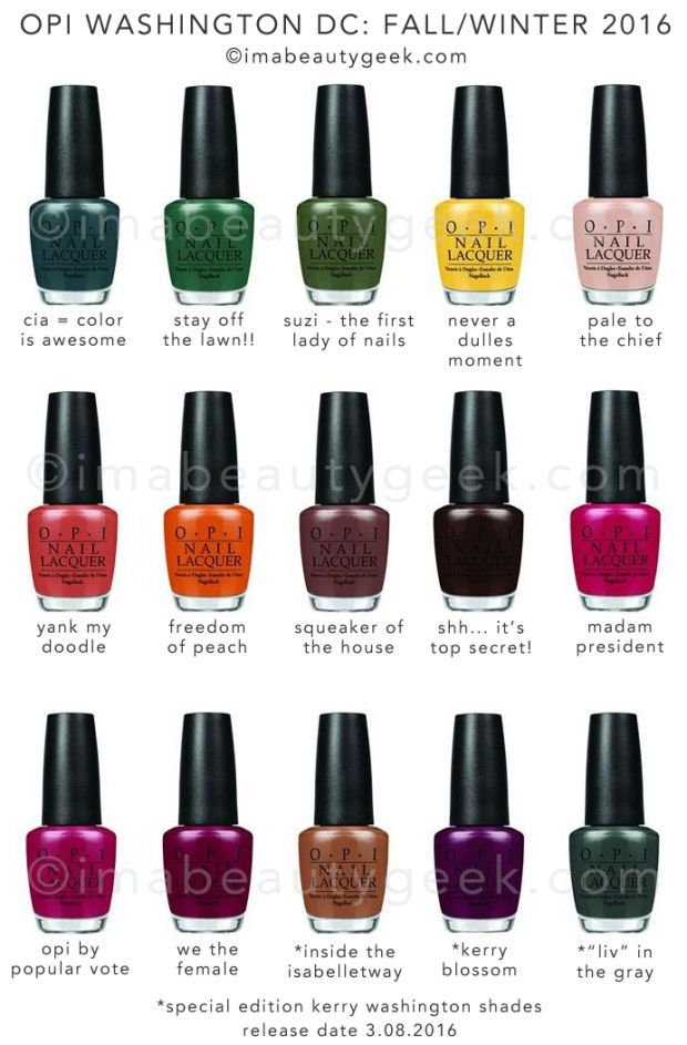 OPI KERRY WASHINGTON F/W 2016: OUR APOLOGIES in 2019 | Beauty | Opi ...