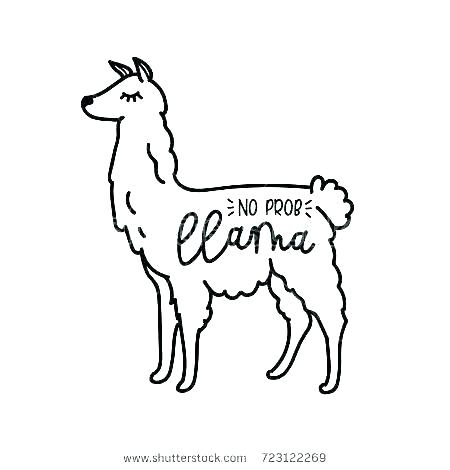 Llama Coloring Page Free Coloring Page Template Printing