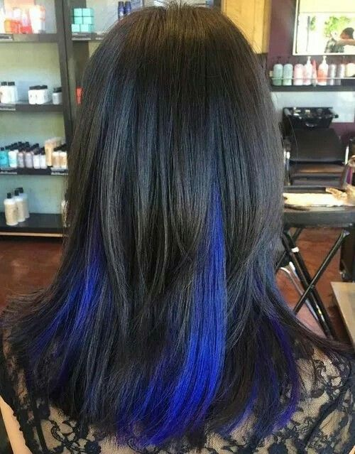Dark Blue And Red Hair