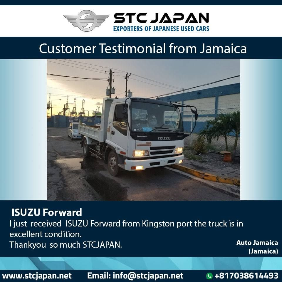 I just received ISUZU Forward from Kingston port, the