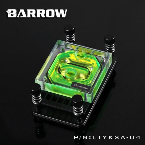 Barrow Cpu Water Cooling Block Use For Amd Ryzen Am4 Am3 Acrylic