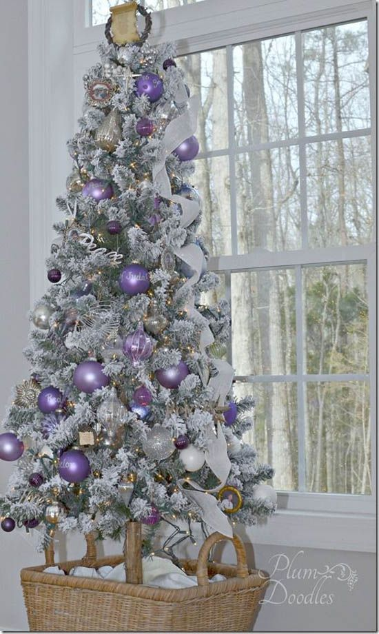 heres a collection of purple christmas trees ideas that you can get inspiration from as you decorate this yuletide season purple is a royal color - Purple Christmas Tree Decorations