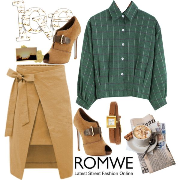 How To Wear Green Plaid Outfit Idea 2017 - Fashion Trends Ready To Wear For Plus Size, Curvy Women Over 20, 30, 40, 50
