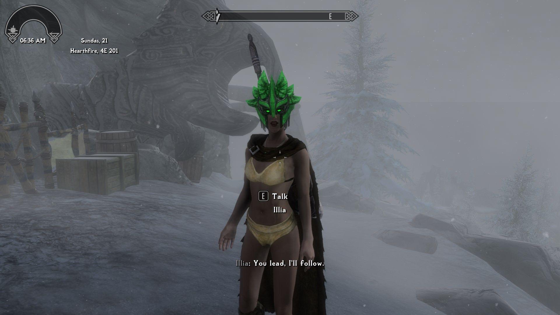 I gave Illia a helmet when suddenly a masked vigilante