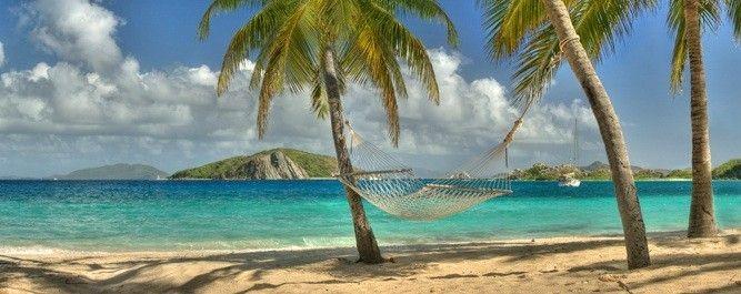 Tropical Canvas Art Print Island Beach Palm Trees Wall