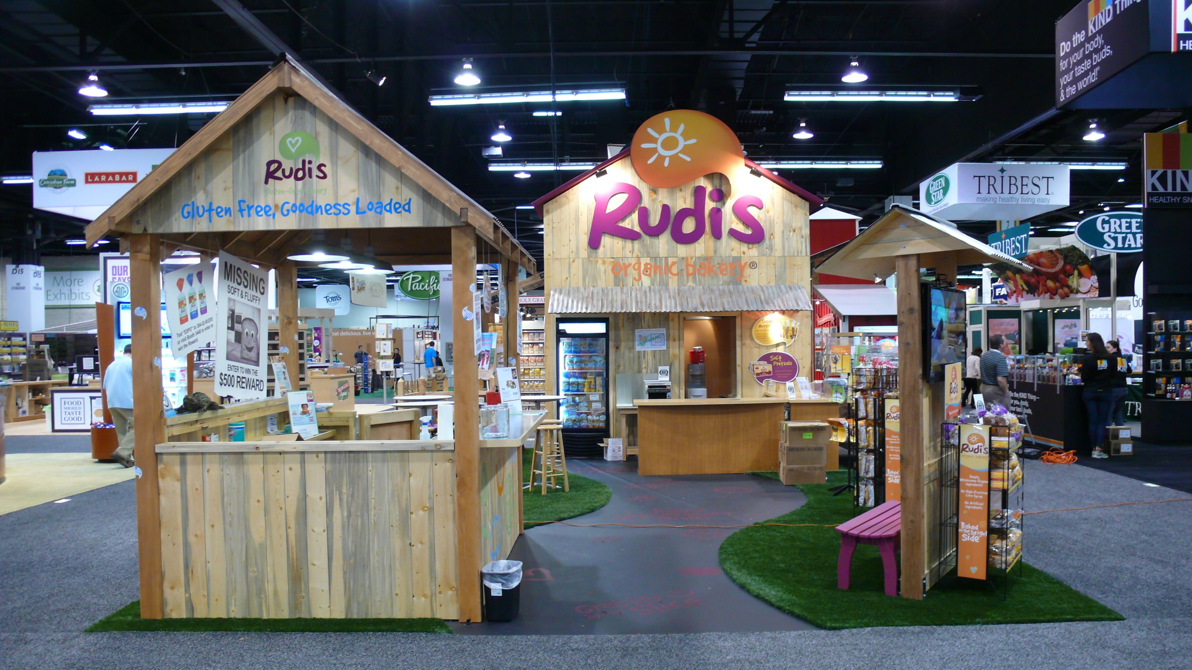 A spacious #booth design with well-spaced product display ... |Exhibit Booths Product