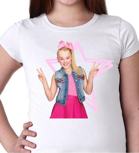 Jojo Shirt Siwa Tee Birthday Party Star Dance Girl Tween Gift Bow Pink