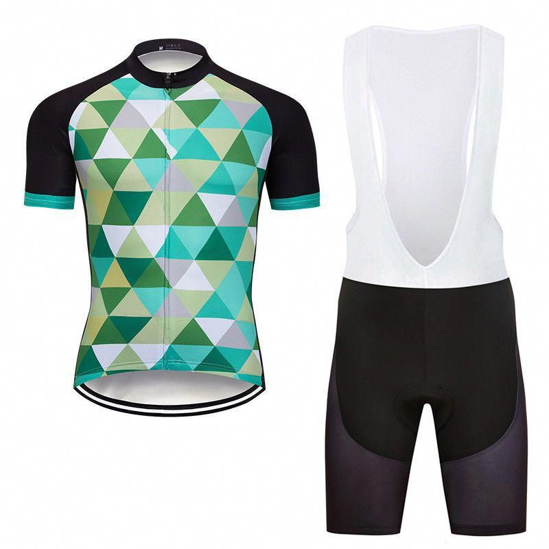 Mens Road Bike Team Cycling Jersey Tops Short Sleeve Bib Shorts Sets Pad  DKGEMN  Unbranded  cyclingclothingroad b1947ae1d