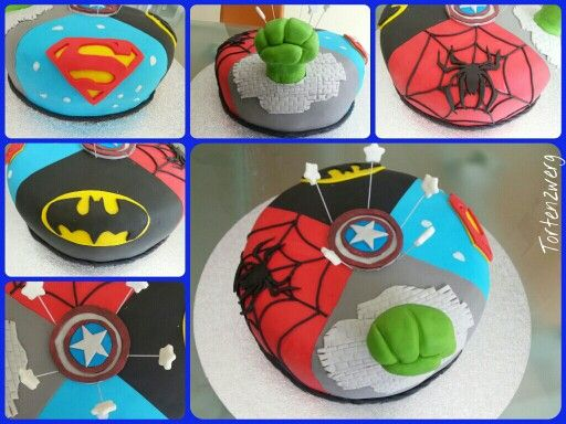 superheld torte hero cake spider man spiderman hulk marvel batman captain america superman. Black Bedroom Furniture Sets. Home Design Ideas