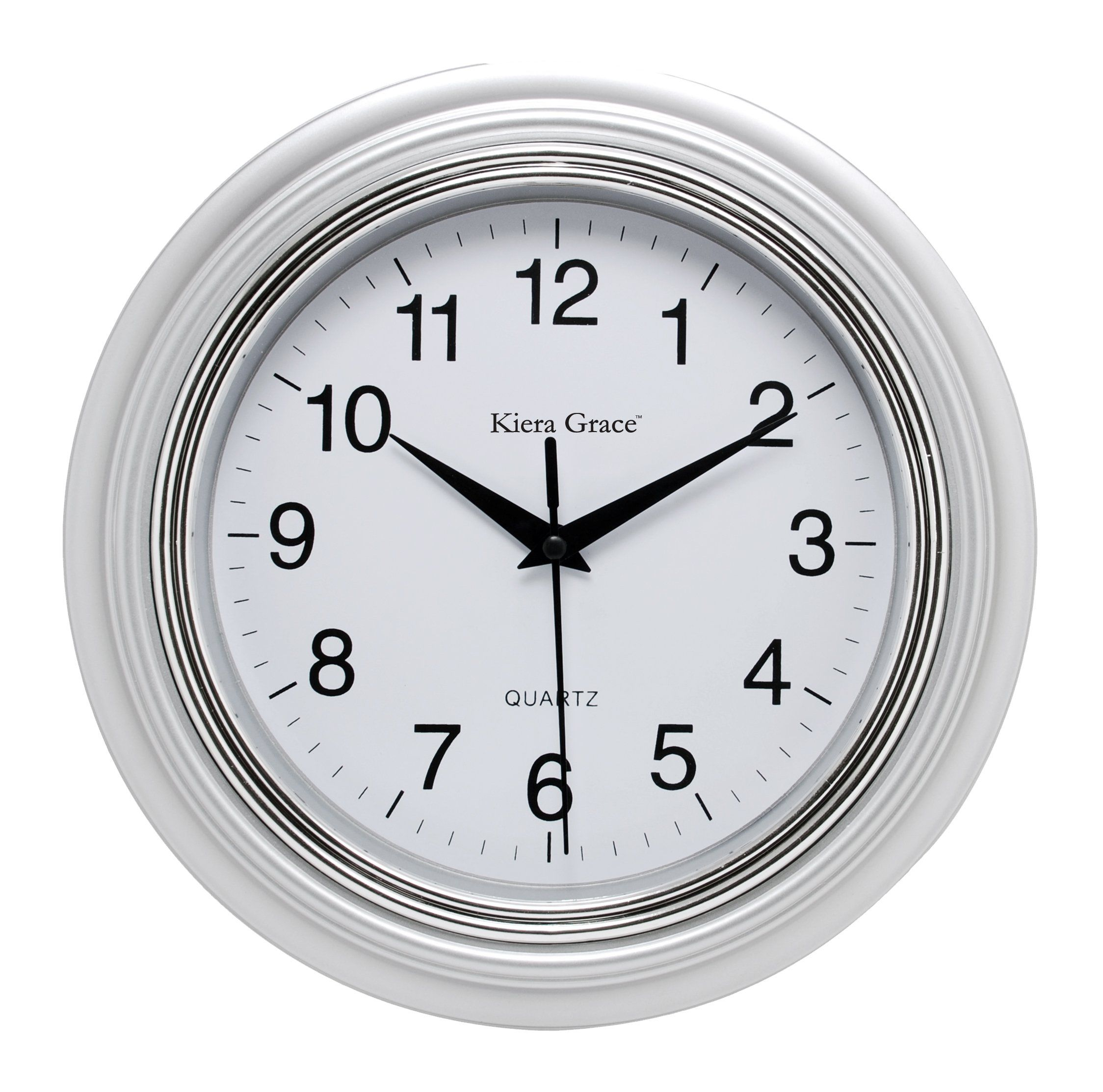 Kieragrace Traditional Wall Clocks 10 Inch Silver In 2020 Wanduhr Wanduhren Uhr