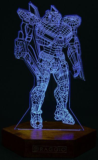 Acrylic Led Lighting Robot From Raggio Www Raggio Eu Led Glow Lights 3d Led Light 3d Illusion Lamp
