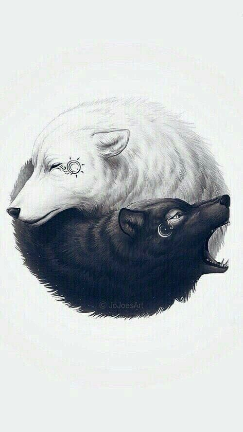 Tattoo Idea White Wolf On My Right Ankle While The Black Wolf On My