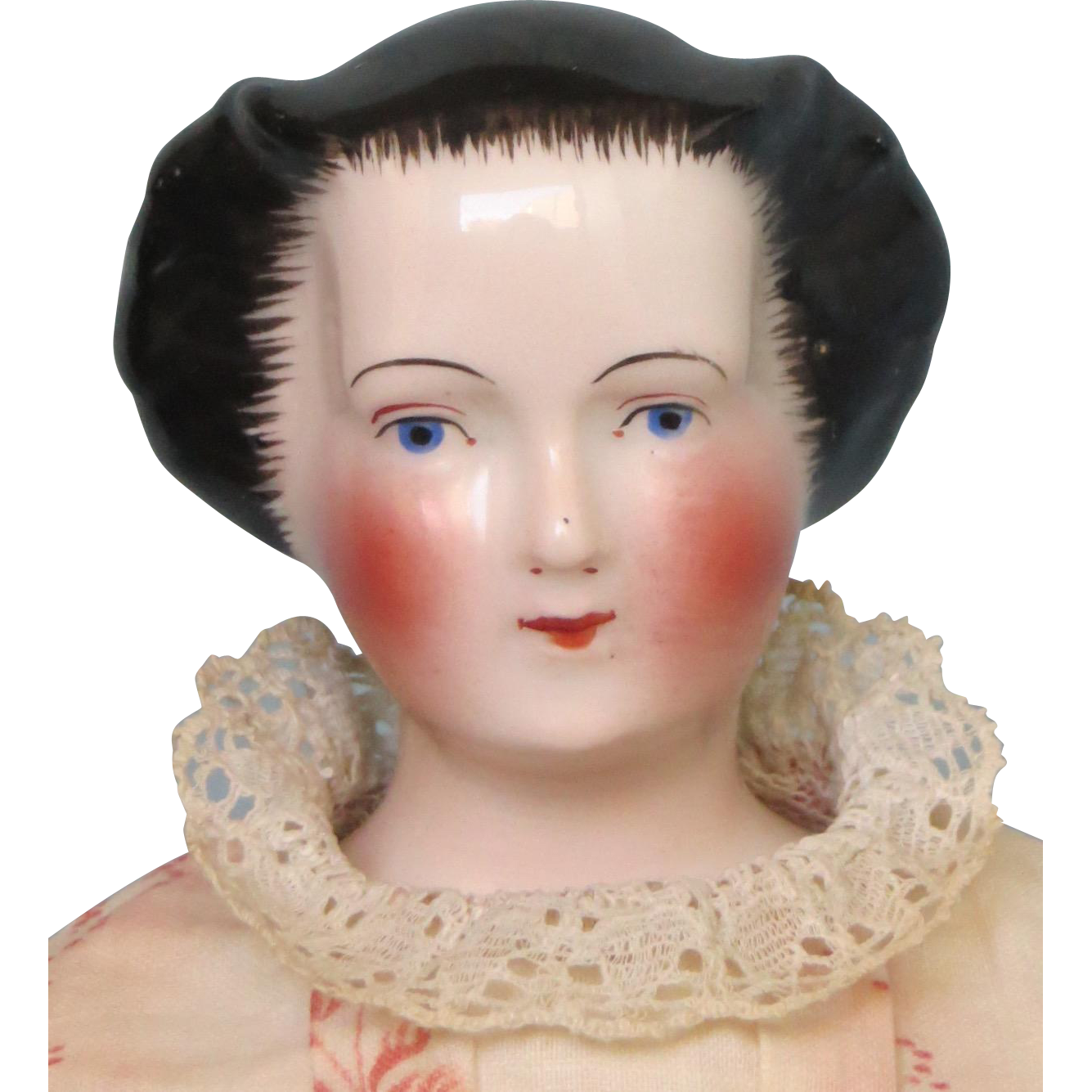 Antique Rare China Doll With Fancy And Unusual Waterfall Hairstyle China Dolls China Head Doll Dolls
