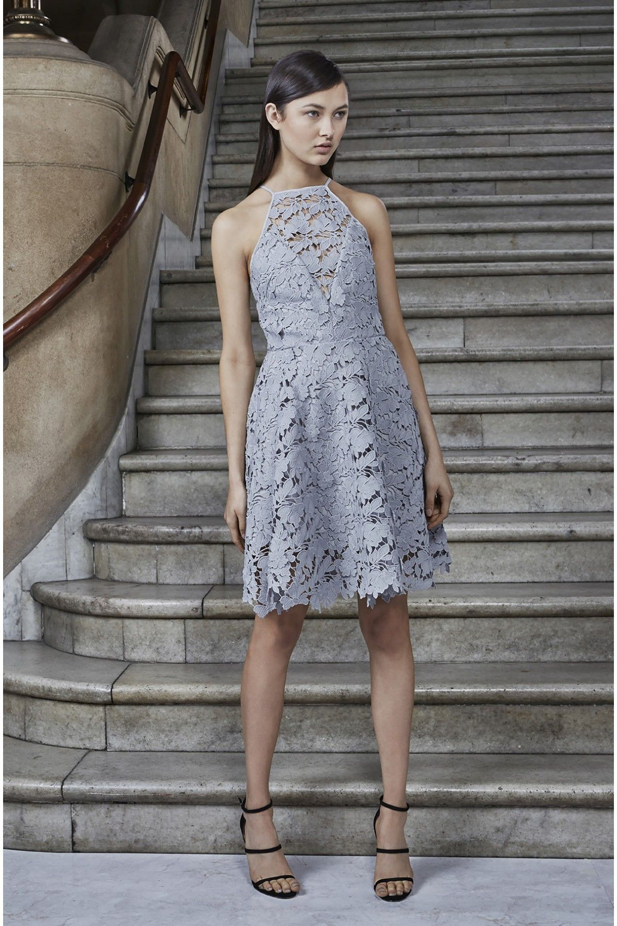 ab2cba9032d KEEPSAKE ACOUSTIC LACE DRESS pale grey | Spring Looks | Dresses ...