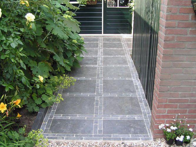 Afbeeldingsresultaat voor grote betontegel met waaltje tuin