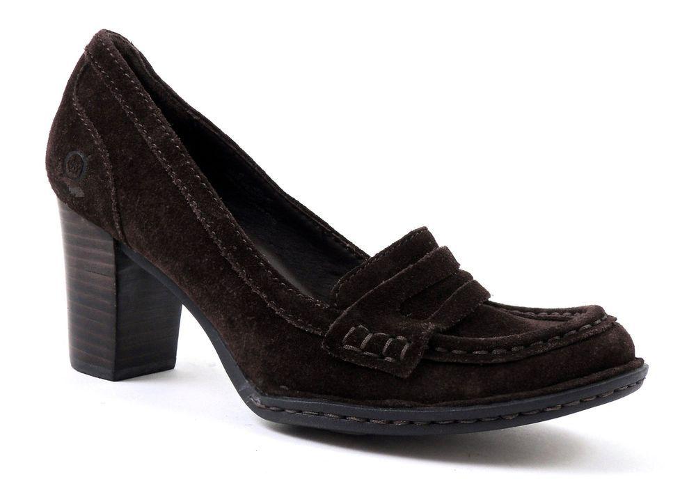 Børn Women's Kimball T-Moro Pumps Dark Brown Suede Size 6 (B, M) #Brn #PumpsClassics