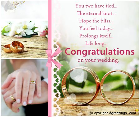 A Wedding Congratulation Card For The Couple Congratulations
