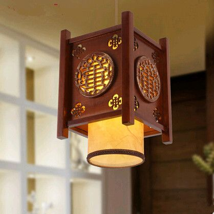 Chinese style classical coffee carved wood art pendant lights chinese style classical coffee carved wood art pendant lights creative minimalist lamp for balconycorridorporchstairs myr010 mozeypictures Choice Image