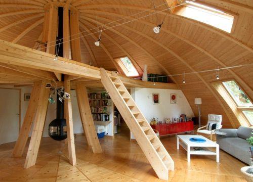 Domespace une maison en bois qui tourne avec le soleil for Maison yourte moderne