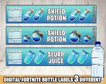 fortnite shield potion fortnite mini gatorade bottle etsy - fortnite potion bottle