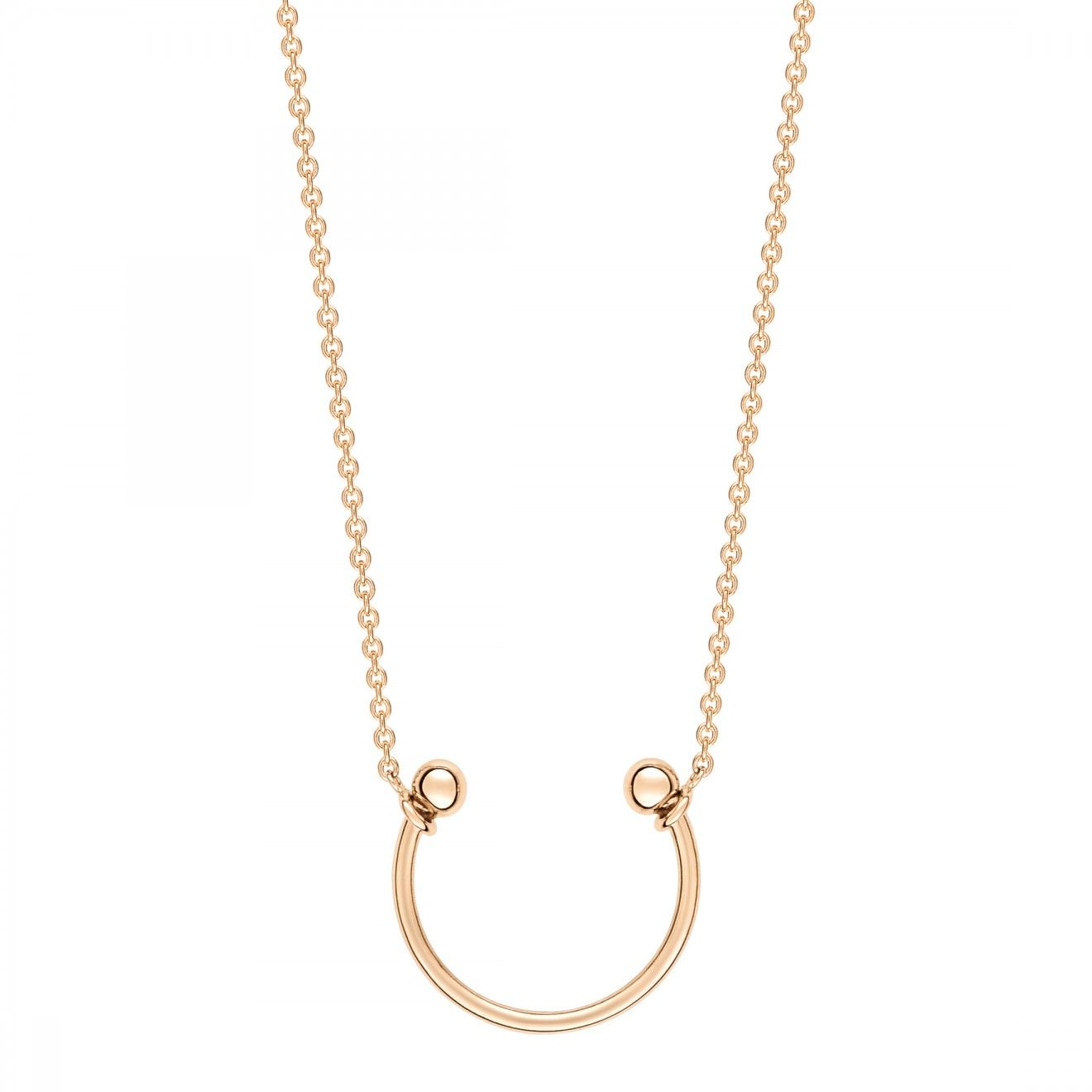 Wise 18-karat rose gold necklace Ginette NY Q7hQ1e2