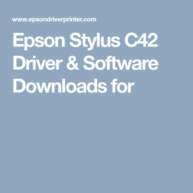 driver epson stylus c42 plus