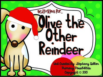 Olive The Other Reindeer Literature Study Printables Olive The