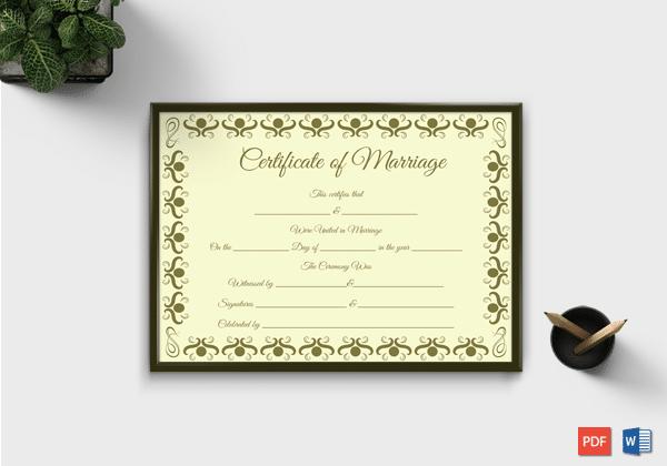 Marriage certificate NJ... #marriage #certificate #template #card ...