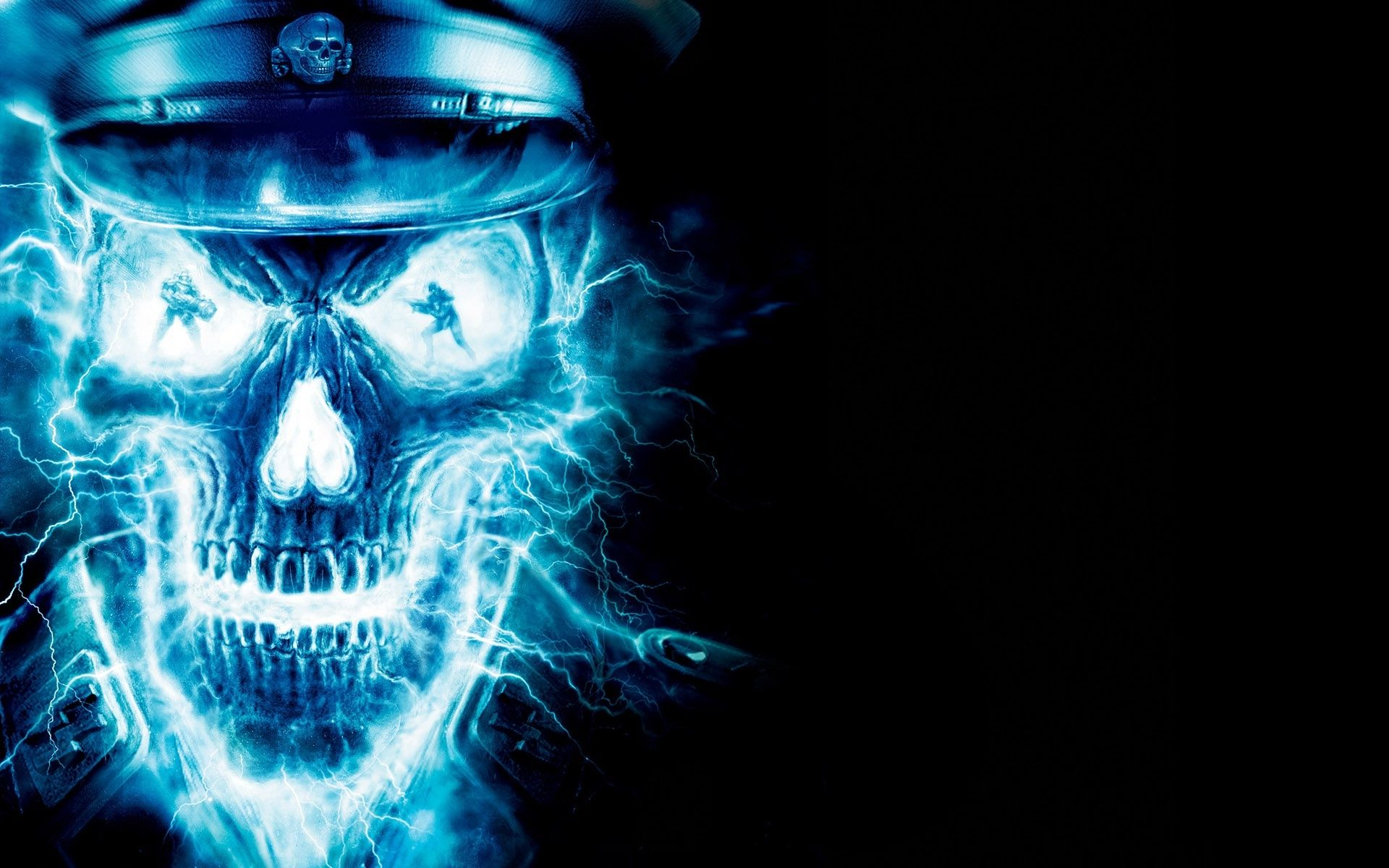 Cool Fire And Ice Pictures Skull Wallpaper Desktop