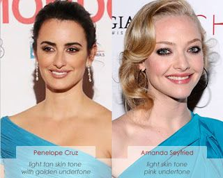 Make Up Charts Cool Vs Warm Skin Tone Coloring Penelope Cruz And Amanda Seyfried Warm Skin Tone Warm Undertones Skin Pale Skin Hair Color