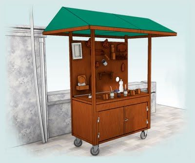 Street Vending Cart Design Vendor Cart Food Cart Design