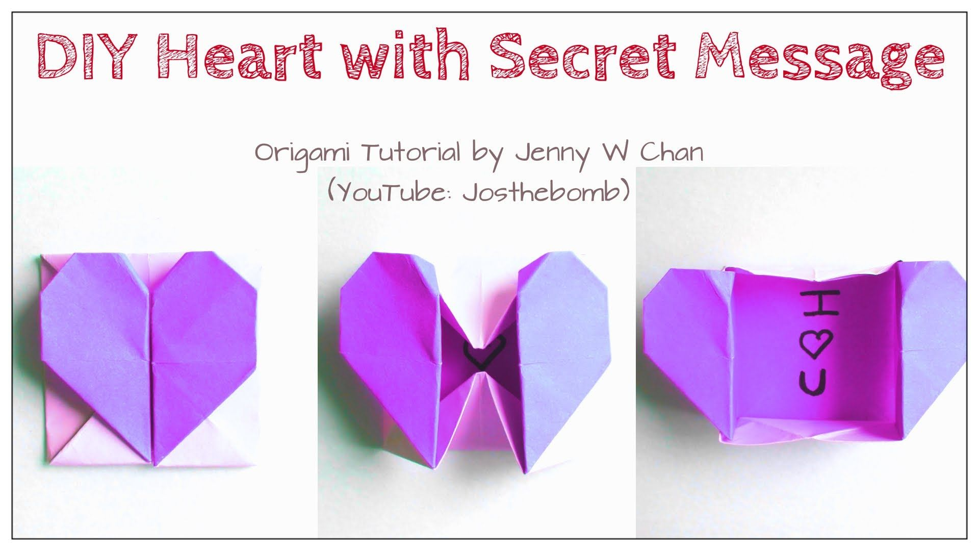 DIY Origami Heart Box / Envelope, Secret Message ... - photo#46