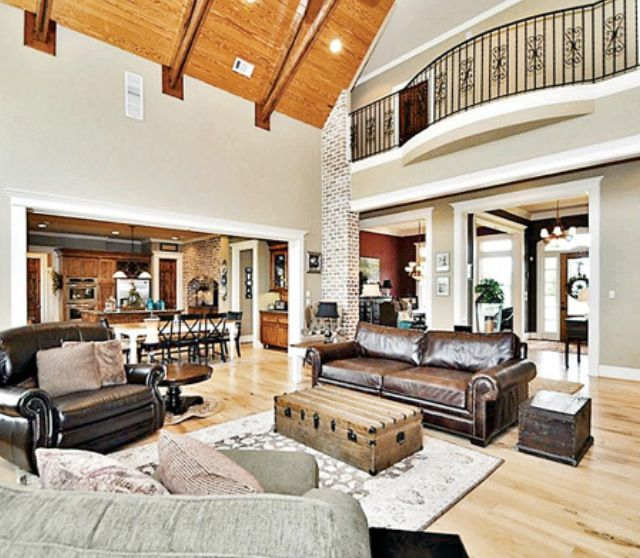 Second Home Decorating Ideas: Open Balcony Above Two-story Living Room.