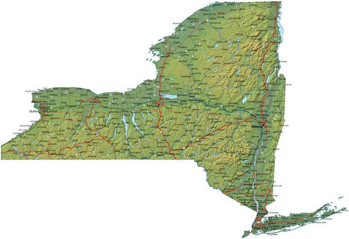 Ny State Map Google.Detailed State Maps Google Search Walk Across America Map