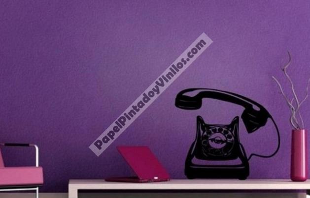 ¡Buenos días! Esperamos tengáis una buena semana. Si os gusta el estilo vintage, os presentamos un precioso y original vinilo vintage. Un teléfono antiguo que ofrecerá al ambiente ese toque de distinción que estás buscando. ¡Consigue el tuyo! http://www.papelpintadoyvinilos.com/vinilos-decorativos-originales/vinilos-decorativos-adhesivos-de-pared-telefono-aqm4134.html