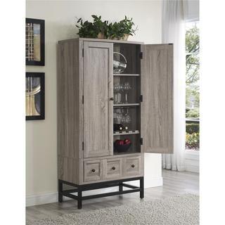 Altra Barrett Sonoma Oak Beverage Cabinet - Free Shipping Today - Overstock.com - 20519807