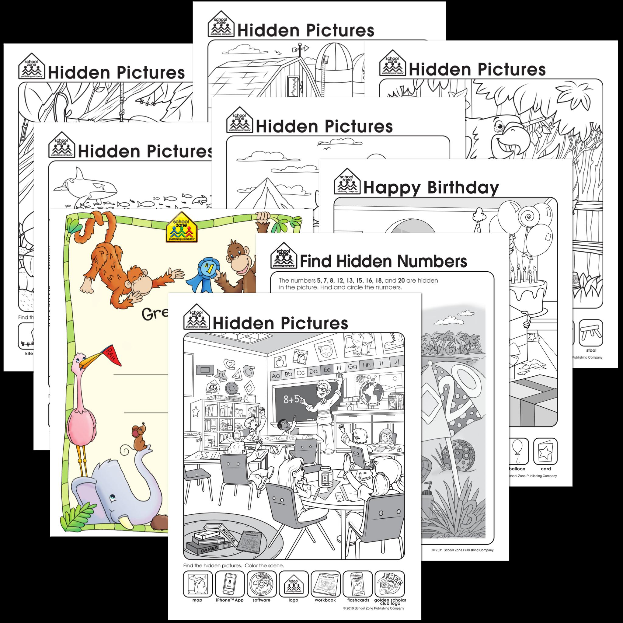Free Hidden Pictures Worksheets