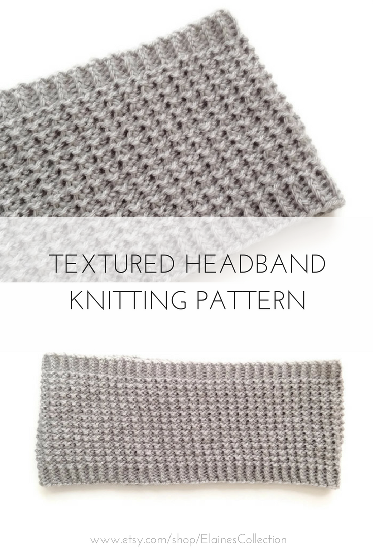 Printable PDF, Knitting Patterns for Women, Knit Headband, Winter ...