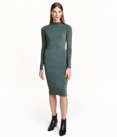Kleid grun hm
