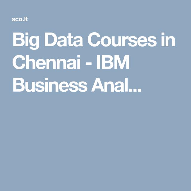 #BigDataCourses In #Chennai