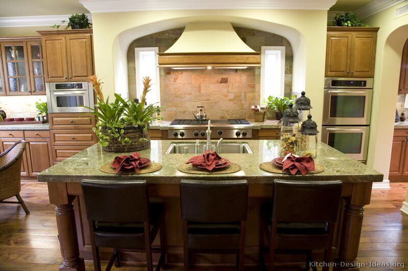 glamorous kitchen colors living room green | This luxury kitchen has a warm color scheme, a large ...