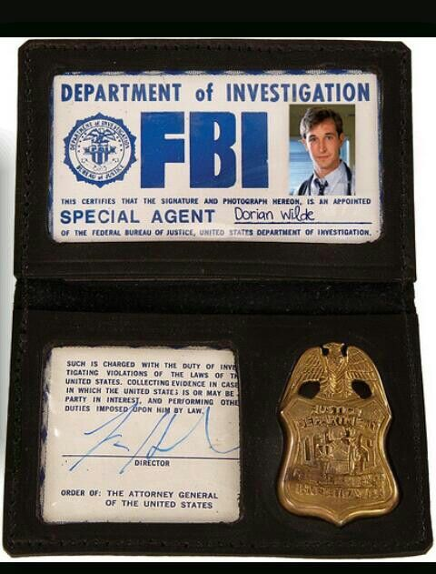 picture about Printable Fbi Badge identified as FBI BAU Badge Felony Minds Cosplay NCIS law enforcement badges