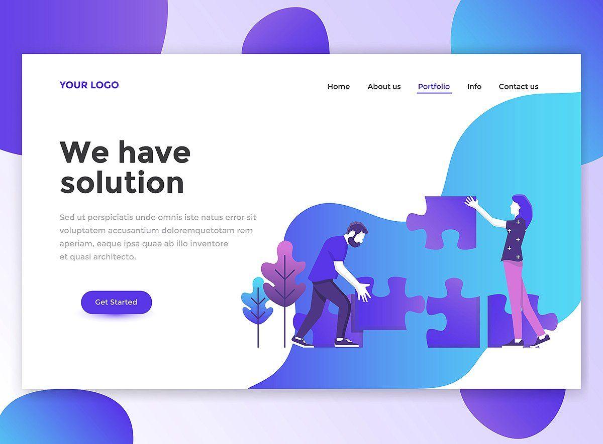 Landing page templates | Fun website design, Website design, Flat design  website