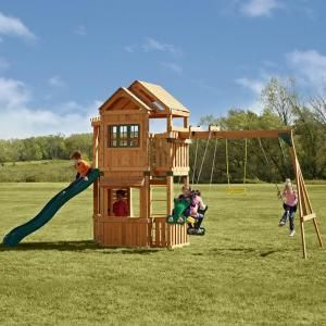 Swing-N-Slide Playsets, Mountain Hollow Wood Complete Play Set, PB 8175 at The Home Depot - Tablet