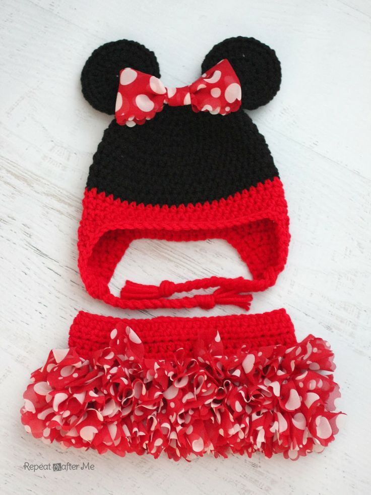 Mickey And Minnie Mouse Crochet Patterns | Baby clothes | Pinterest ...