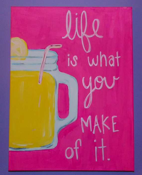 Life Canvas Quote Extraordinary Canvas Quote Painting Life Is What You Make Of Itkaylacarter23