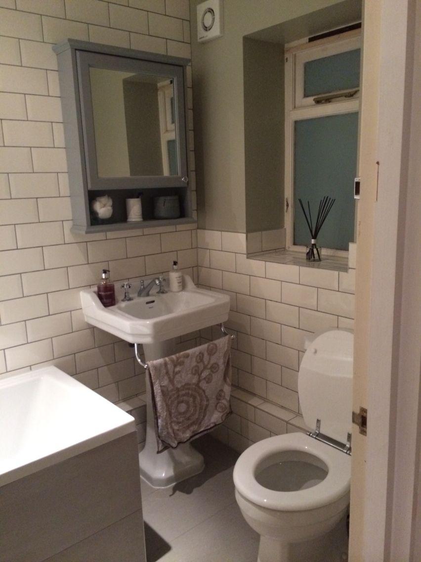 Savoy Bathroom With Metro Tiles And Sage Green Walls