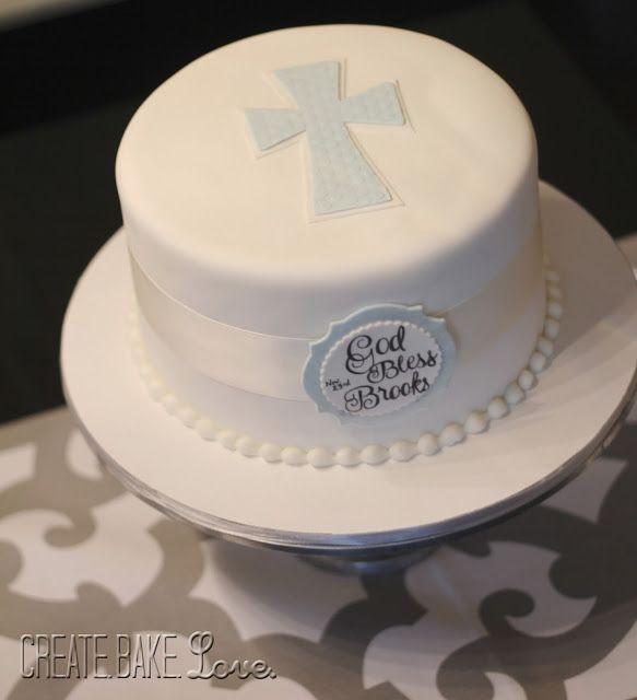 Boy Baptism Cake Create Bake Love Baby