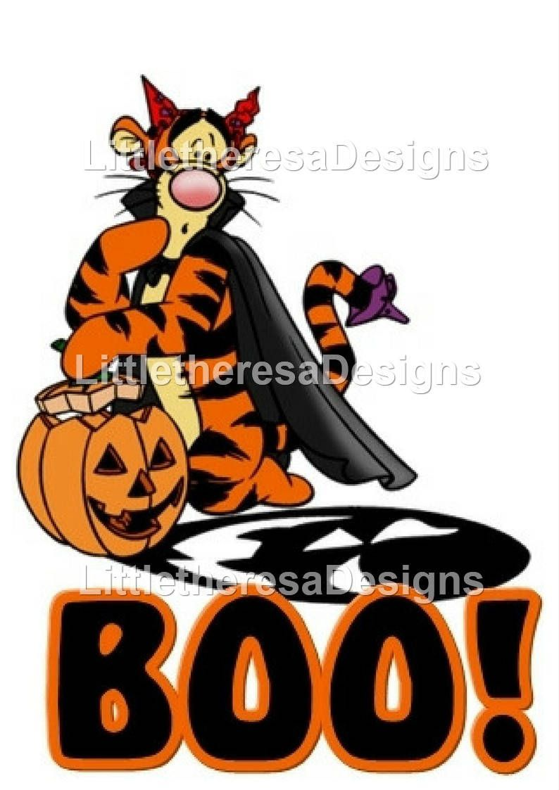 tigger halloween iron on transfer by littletheresadesigns on etsy