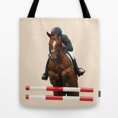 Show Jumping 1 Tote Bag by Horseaholic - $22.00
